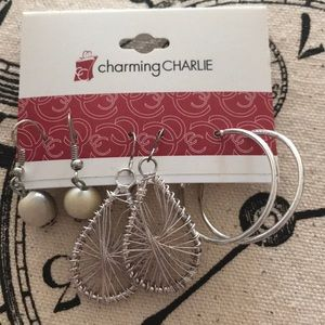 Set of Three Earrings from Charming Charlie